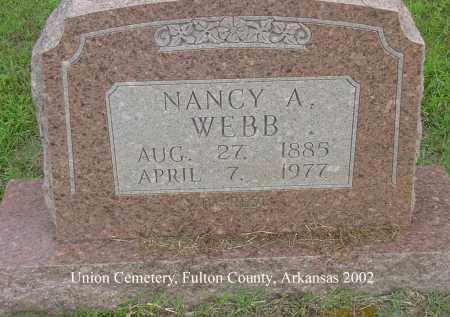 WEBB, NANCY ADELINE - Fulton County, Arkansas | NANCY ADELINE WEBB - Arkansas Gravestone Photos