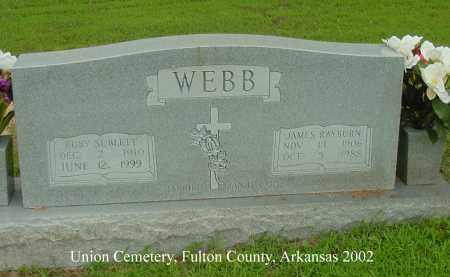 WEBB, RUBY SUBLETT - Fulton County, Arkansas | RUBY SUBLETT WEBB - Arkansas Gravestone Photos