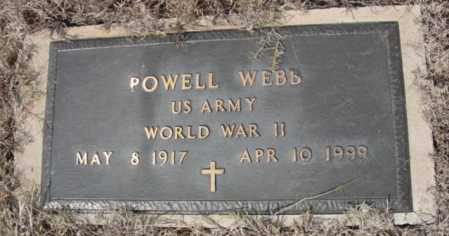 WEBB (VETERAN WWII), POWELL - Fulton County, Arkansas | POWELL WEBB (VETERAN WWII) - Arkansas Gravestone Photos