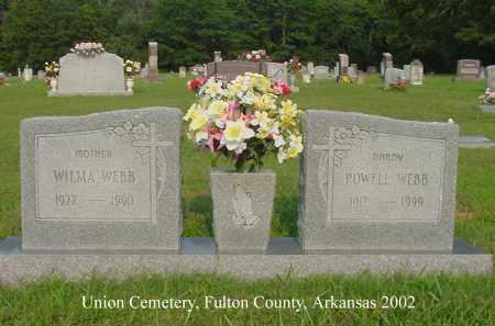 WEBB, WILMA - Fulton County, Arkansas   WILMA WEBB - Arkansas Gravestone Photos