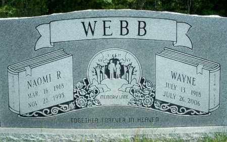 WEBB, NAOMI R. - Fulton County, Arkansas | NAOMI R. WEBB - Arkansas Gravestone Photos