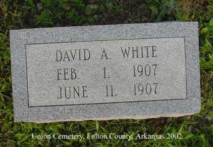 WHITE, DAVID A. - Fulton County, Arkansas   DAVID A. WHITE - Arkansas Gravestone Photos