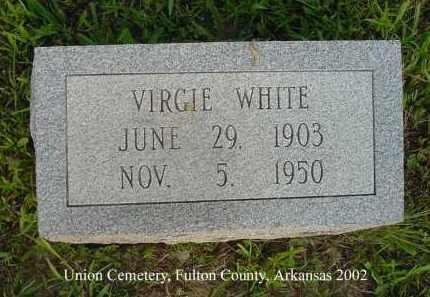 WHITE, VIRGIE - Fulton County, Arkansas | VIRGIE WHITE - Arkansas Gravestone Photos