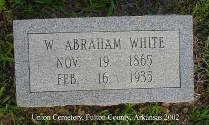 WHITE, WESLEY ABRAHAM - Fulton County, Arkansas   WESLEY ABRAHAM WHITE - Arkansas Gravestone Photos