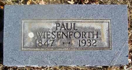 WIESENFORTH, PAUL - Fulton County, Arkansas   PAUL WIESENFORTH - Arkansas Gravestone Photos