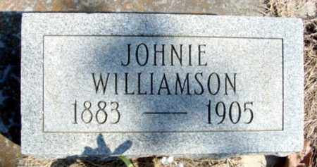 WILLIAMSON, JOHNIE - Fulton County, Arkansas   JOHNIE WILLIAMSON - Arkansas Gravestone Photos