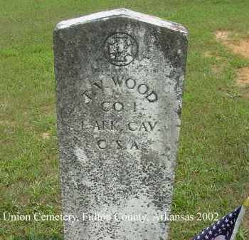 WOOD  (VETERAN CSA), T. V. - Fulton County, Arkansas | T. V. WOOD  (VETERAN CSA) - Arkansas Gravestone Photos