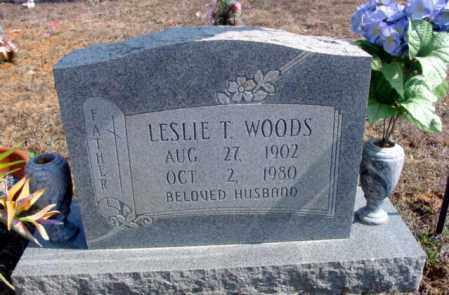WOODS, LESLIE T. - Fulton County, Arkansas   LESLIE T. WOODS - Arkansas Gravestone Photos