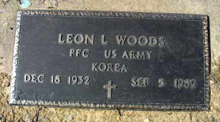 WOODS (VETERAN KOR), LEON L - Fulton County, Arkansas | LEON L WOODS (VETERAN KOR) - Arkansas Gravestone Photos