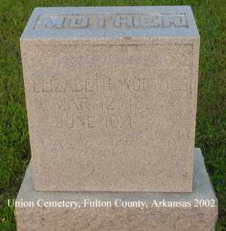 WORTHEN, ELIZABETH - Fulton County, Arkansas | ELIZABETH WORTHEN - Arkansas Gravestone Photos