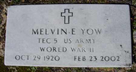 YOW (VETERAN WWII), MELVIN E - Fulton County, Arkansas | MELVIN E YOW (VETERAN WWII) - Arkansas Gravestone Photos