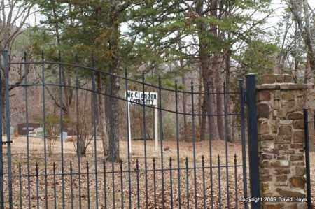 *MC CLENDON CEMETERY, GATE & DIRECTIONS - Garland County, Arkansas   GATE & DIRECTIONS *MC CLENDON CEMETERY - Arkansas Gravestone Photos