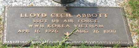 ABBOTT (VETERAN 3 WARS), LLOYD CECIL - Garland County, Arkansas | LLOYD CECIL ABBOTT (VETERAN 3 WARS) - Arkansas Gravestone Photos