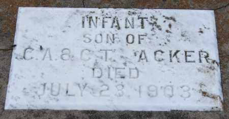 ACKER, INFANT SON - Garland County, Arkansas | INFANT SON ACKER - Arkansas Gravestone Photos