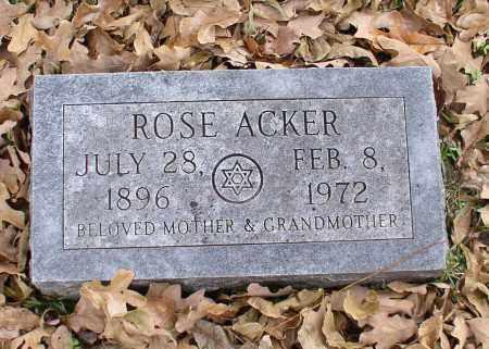 ACKER, ROSE - Garland County, Arkansas | ROSE ACKER - Arkansas Gravestone Photos