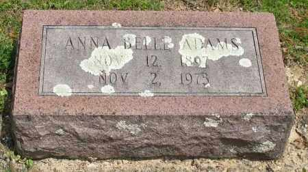 ADAMS, ANNA BELLE - Garland County, Arkansas   ANNA BELLE ADAMS - Arkansas Gravestone Photos