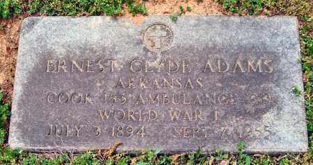 ADAMS (VETERAN WWI), ERNEST CLYDE - Garland County, Arkansas | ERNEST CLYDE ADAMS (VETERAN WWI) - Arkansas Gravestone Photos