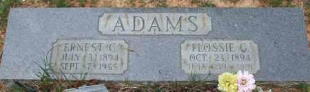 ADAMS, ERNEST CLYDE - Garland County, Arkansas   ERNEST CLYDE ADAMS - Arkansas Gravestone Photos