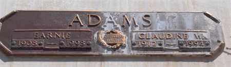 ADAMS, EARNIE - Garland County, Arkansas | EARNIE ADAMS - Arkansas Gravestone Photos