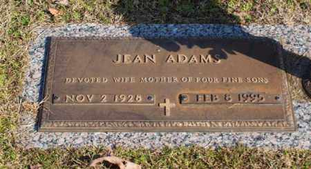 ADAMS, JEAN - Garland County, Arkansas | JEAN ADAMS - Arkansas Gravestone Photos