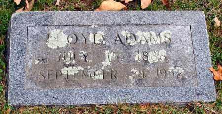 ADAMS, LLOYD - Garland County, Arkansas | LLOYD ADAMS - Arkansas Gravestone Photos