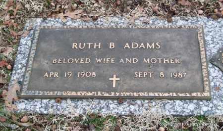 ADAMS, RUTH - Garland County, Arkansas | RUTH ADAMS - Arkansas Gravestone Photos