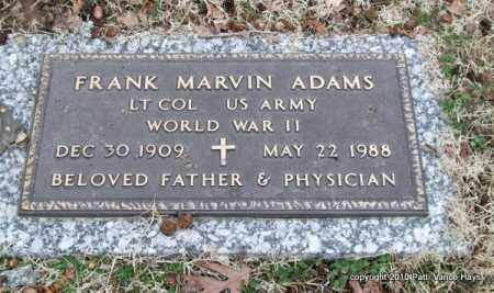 ADAMS (VETERAN WWII), FRANK MARVIN - Garland County, Arkansas | FRANK MARVIN ADAMS (VETERAN WWII) - Arkansas Gravestone Photos