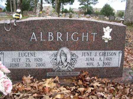 ALBRIGHT, JUNE J - Garland County, Arkansas | JUNE J ALBRIGHT - Arkansas Gravestone Photos