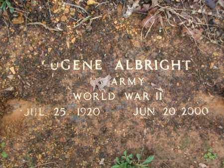 ALBRIGHT (VETERAN WWII), EUGENE - Garland County, Arkansas | EUGENE ALBRIGHT (VETERAN WWII) - Arkansas Gravestone Photos
