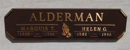 ALDERMAN, HELEN G - Garland County, Arkansas | HELEN G ALDERMAN - Arkansas Gravestone Photos