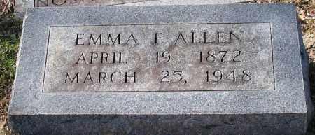ALLEN, EMMA F. - Garland County, Arkansas | EMMA F. ALLEN - Arkansas Gravestone Photos