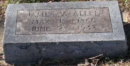ALLEN, JAMES W. - Garland County, Arkansas   JAMES W. ALLEN - Arkansas Gravestone Photos