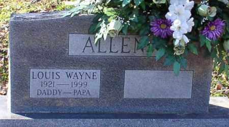 ALLEN, LOUIS WAYNE - Garland County, Arkansas | LOUIS WAYNE ALLEN - Arkansas Gravestone Photos