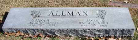ALLMAN, ANNA H. - Garland County, Arkansas | ANNA H. ALLMAN - Arkansas Gravestone Photos