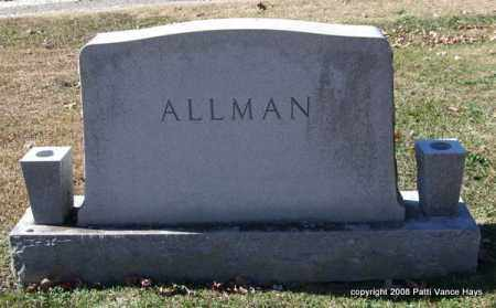 ALLMAN FAMILY, MONUMENT - Garland County, Arkansas | MONUMENT ALLMAN FAMILY - Arkansas Gravestone Photos