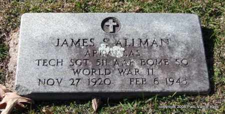 ALLMAN (VETERAN WWII), JAMES SAMUEL - Garland County, Arkansas | JAMES SAMUEL ALLMAN (VETERAN WWII) - Arkansas Gravestone Photos