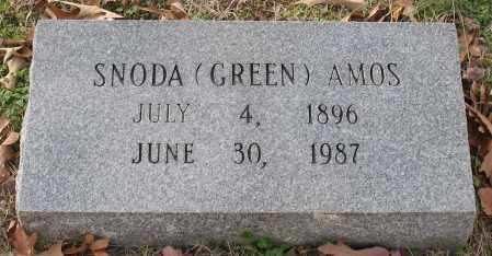 AMOS, SNODA GREEN - Garland County, Arkansas | SNODA GREEN AMOS - Arkansas Gravestone Photos