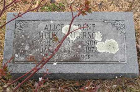 ANDERSON, ALICE LORENE - Garland County, Arkansas | ALICE LORENE ANDERSON - Arkansas Gravestone Photos