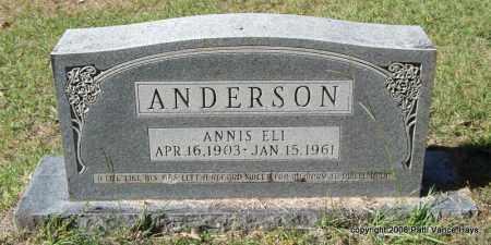 ANDERSON, ANNIS ELI - Garland County, Arkansas   ANNIS ELI ANDERSON - Arkansas Gravestone Photos