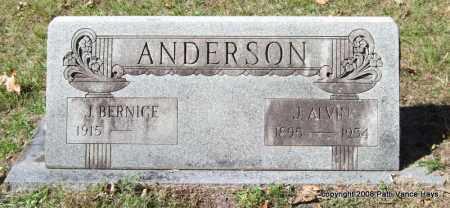 ANDERSON, J. ALVIN - Garland County, Arkansas | J. ALVIN ANDERSON - Arkansas Gravestone Photos