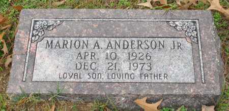 ANDERSON, JR., MARION A. - Garland County, Arkansas | MARION A. ANDERSON, JR. - Arkansas Gravestone Photos