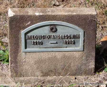 ANDERSON, LOUIS O. - Garland County, Arkansas | LOUIS O. ANDERSON - Arkansas Gravestone Photos