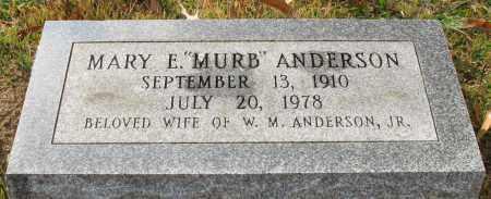 "ANDERSON, MARY E. ""MURB"" - Garland County, Arkansas | MARY E. ""MURB"" ANDERSON - Arkansas Gravestone Photos"