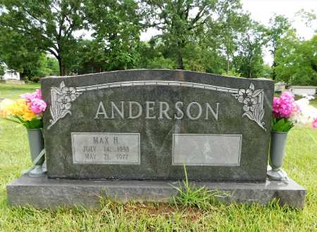 ANDERSON, MAX H. - Garland County, Arkansas   MAX H. ANDERSON - Arkansas Gravestone Photos