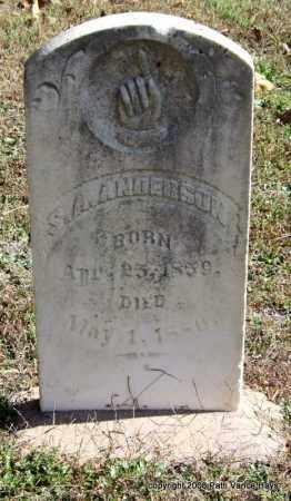 ANDERSON, S. A. - Garland County, Arkansas | S. A. ANDERSON - Arkansas Gravestone Photos
