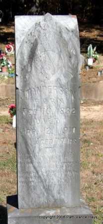 ANDERSON, SR., JAMES T. - Garland County, Arkansas | JAMES T. ANDERSON, SR. - Arkansas Gravestone Photos