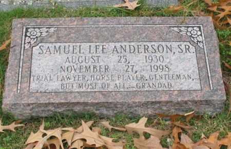 ANDERSON, SR., SAMUEL LEE - Garland County, Arkansas | SAMUEL LEE ANDERSON, SR. - Arkansas Gravestone Photos