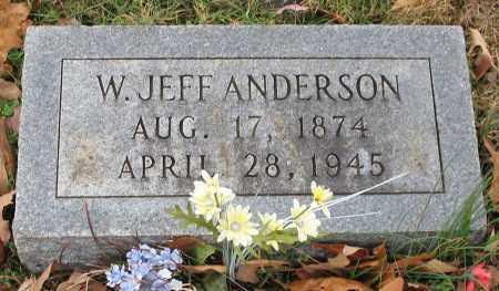 ANDERSON, W. JEFF - Garland County, Arkansas   W. JEFF ANDERSON - Arkansas Gravestone Photos
