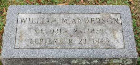 ANDERSON, WILLIAM M. - Garland County, Arkansas | WILLIAM M. ANDERSON - Arkansas Gravestone Photos