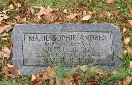 ANDRES, MARIE SOPHIE - Garland County, Arkansas   MARIE SOPHIE ANDRES - Arkansas Gravestone Photos